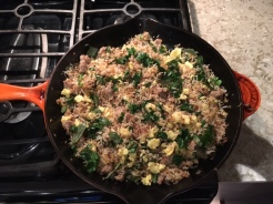 It all comes together with the fish sauce, fresh cilantro, fresh basil and the scallion greens