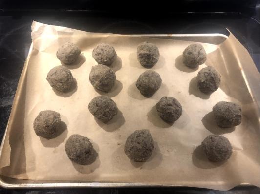 cookie dough, mokonut, baking